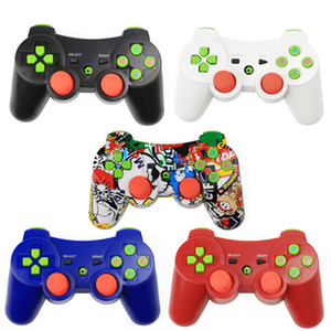 Atacado PS3 controladores colorido Controladores Wireless Controller Jogo Bluetooth Choque para PlayStation 3 PS3 wireless Joysticks gamepad