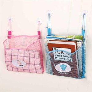 Neueste Wandbehang Aufbewahrungstasche Badezimmer Küche Mesh-Baby-Kind-Organizer Net Bade Tidy Spielzeug Saugnapf Bag Container