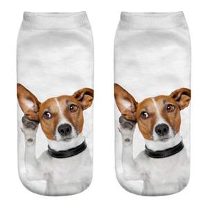 2019 NEW FASHION Cute Casual Business Socks 3D Dog Printing Medium Sports Socks Free ship T4