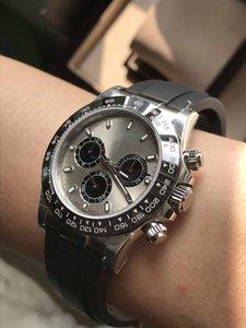 Luxo Relógio Mecânico NB Fábrica V3 Corret Thicknees Blue Spring Cal.4130 Automatic Cronógrafo Função 904 Aço