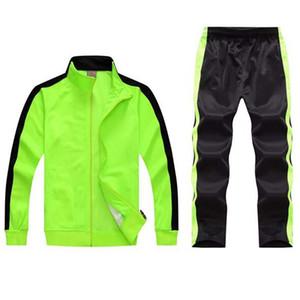 Erkek setini koşu 2 Adet Sweatsuits eşofman erkek takım eşofman parça ceket eşofman koşucuların erkek eşofman spor takım elbise set