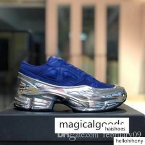Sneaekers Raf Simons Oversized Sneaker Ozweego Shoe men women shoes in Silver Metallic effect Sole Sport Trainer s2