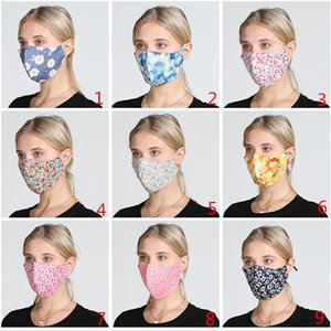 2020 new Decorative pattern Face Mask Black Cotton Blend Anti Dust and nose protection K-POP 2 Layer Mask Fashion Reusable Masks for Woman
