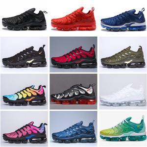 Высокое качество воздухапарМаксимумПрочный TN Plus случайный обуви Metallic 14 Colorways Running обувь спортивная кроссовки мужчина пакет обуви