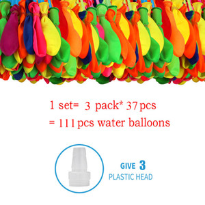 Summer Water balloons 1lot=111pcs Water Bombs Magic Water-filled Balloon 2020 summer Children Garden Outdoors Play in the water toys