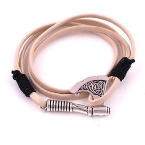 HL0088 Venta directa de fábrica Viking Axe Colgante pulsera Pulsera de amuleto de múltiples capas de joyería europea pareja religiosa
