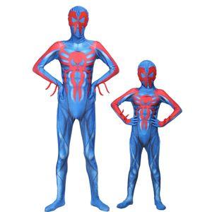 Yeni Örümcek Adam 2099 Kostüm takım Yetişkin çocuk örümcek adam kostümleri Örümcek Adam Superhore parti Kostümler Zentai Jumpsuit Setleri Cosplay