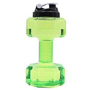 Large Water Bottle Outdoor Sports Bottle 2.2 Liter PETG Dumbbell Sport Running Fitness Exercise Fitness Shake Weight