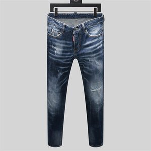 Brand Mens designer Jeans fashion designer patched Hip Hop Holes jeans Male Skinny Italian Slim Fit Pencil Pants