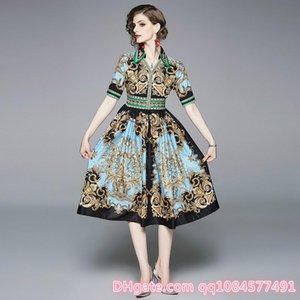 Sıcak satış markası yaz elbiseler Baskılı İnce V yaka, kısa kollu elbise kadın giysileri yüksek kalite Casual yaz elbiseler kadın jumpsuits
