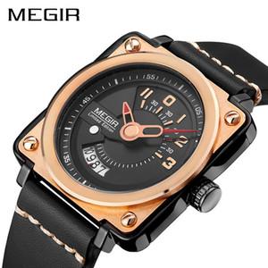 MEGIR Fashion Sport Mens Watches top Square Mechanical watch men wirstwatch Relogio Masculino Time Hour Clock