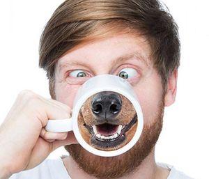 Komik Kupa Ben Domuz Köpek Burun Seramik Su Bardağı Kahve Kupa Ofis Kahve Fincanı Drinkware Yaratıcı Hediye