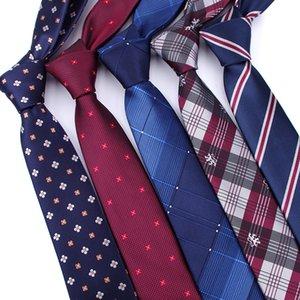Erkekler bağları kravat erkek vestidos İş düğün kravat Erkek Elbise legame hediye gravata İngiltere Çizgili JACQUARD DOKUM ... 6 cm D19011003