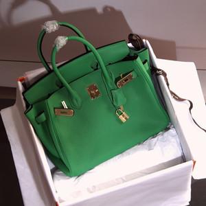 Designer Handtaschen Harms 25cm 30cm 35cm 40cm Frauen Mode Totes Litschi Muster echtes Leder Designer Taschen Damen Luxus Geldbörse Handtasche
