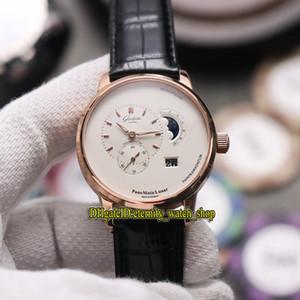 TZ Glashütte Оригинал ПАНО MATIC ЛУННЫЙ 1-90-02-45-35-05 Белая фаза Луны набор Cal.90-02 Автоматическая Мужские часы из розового золота Дизайнерские часы