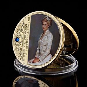 The Last Rose Of England 24K Gold Coin collection Princesse Diana Défi pièces de métal Ornement d'art Collection Worth
