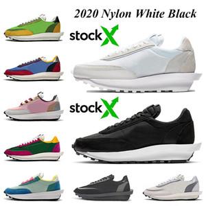 Nike Blazer Sacai LD waffle daybreak Kadın erkek koşu ayakkabı Toptan En kaliteli stok x Naylon beyaz siyah Çam Yeşil Gusto Varsity Mavi eğitmenler sneakers