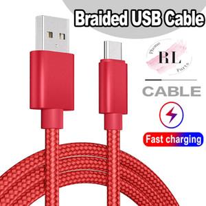 Cable USB tipo C Cable adaptador de sincronización de datos de carga de metal Teléfono Adaptador Espesor trenzado fuerte cable micro USB