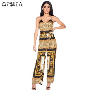 Opslea African Elastic Tribal Dress Leopard Print Clothes For Women Dashiki African Jumsuit Side Slits Africa Clothing