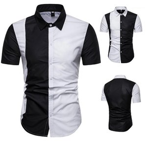 T-Shirts Slim Fit Mens Spring Casual Color Matching O Neck Shirts Fashion Male Tops Designer Stylish