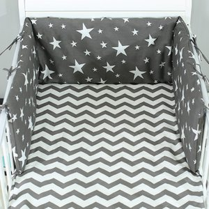 Various styles Nordic Stars Design Baby Bed Thicken Bumpers One-piece Crib Around Cushion Cot Pillows Newborns Room Decor