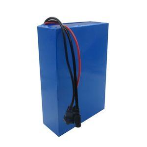 Freies Verschiffen 2000W 52V 26Ah-Lithium-Batterie 51.8V 52V Ebike-Batterien verwenden Panasonic 2900mAh-Zelle mit 50A BMS 2A-Ladegerät