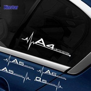 Les fenêtres de voiture autocollants de voiture décalcomanies autocollant pour udi 3 4 5 6 A7 A8 TT 3 Q5 Q7 A1 B5 B6