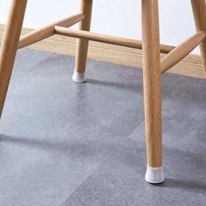 4 pezzi in silicone gamba della sedia Cappellini Piedi Pad Mobili tovaglie Socks Piano Protezioni rotonda fondo antiscivolo tazze con un diametro 3.2x4cm