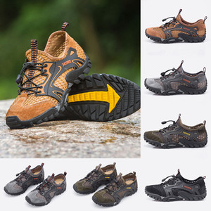 Fashion mens casual shoes breathable black navy brown wild cheap flat shoes for outdoor jogging walking 38-46