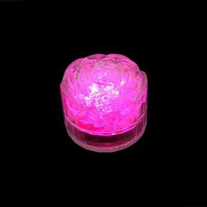مكعب ثلج من طراز (روز) ومضة ملونة وميض رومنسي مصغر قاد ضوء جليدي اصطناعي لزفاف زينة حفلة عيد الميلاد