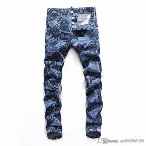 2020 Mens Designer Jeans Fashion Designer Skinny Washed Motocycle Denim Pants Panelled Hip Hop mens designer pants mens jeans