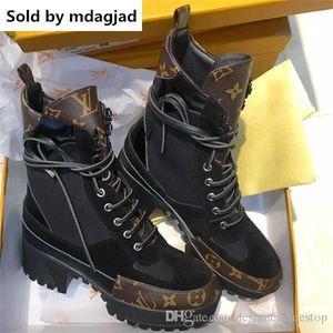 Laureate Desert Boots Womens Designer Leather Boots Ladies Chunky Heel Ankle Bootie y zapatos de senderismo 5cm con estuche