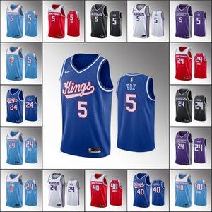 Men SacramentoKingsBasketball Jersey De'Aaron Fox Buddy Hield Harrison BarnesNBA 2019-20 Jerseys