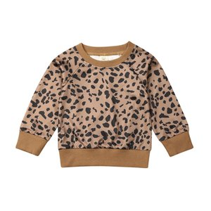 0-24M Baby Girl Clothes Leopard Pullover Hoodies Sweatshirt Kids Boys Newborn Casual Tops Newborn Girl Boy Winter Clothes