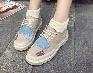 2018 Yeni Kadın Modası Flats Canva Ayakkabı Casual Açık Kadınlar Nedensel Çalışma Ayakkabı Dantel-up