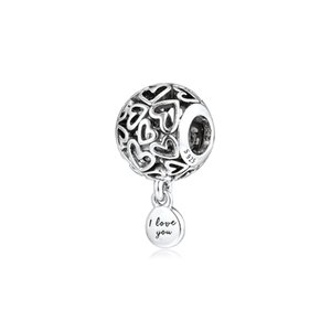 CKK Openwork Hearts Charms 925 Original Fit Pandora Bracelets Sterling Silver Charm Beads for Jewelry Making Bead Berloque