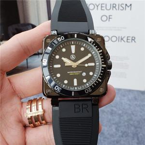 많은 사람들 relogio masculino 47mm 군사 스포츠 스타일의 고품질 블랙 다이얼 독특한 실리콘 큰 남성 시계 시계