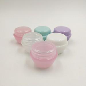 Freies verschiffen 20 teile / los 5 ml Kunststoff Pilz Creme Makeup Container Probe Glas mit schraubverschluss für DIY schönheit glas