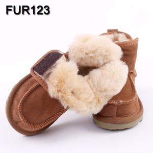 Baby Snow Boots per ragazzi e ragazze Bambini Snow Boots pelle di pecora vera pelliccia scarpe per bambini Geanuine Australia di cuoio Scarpe S200107