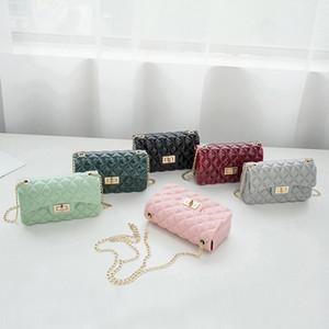 Pelle PUOU Borse Moda PU di alta qualità a catena Donne Bag Small Incenso vento losanga Lattice Shoulder Bag di blocco Stereotipi