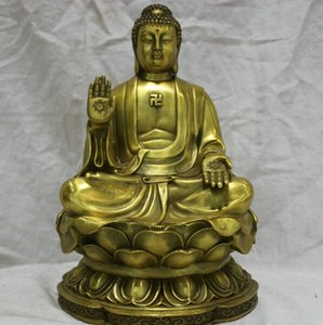 frei Andere Wohnkultur Dcor Chinese China Kultur Handmade Bronze Messing Statue Dainichi Buddha Skulptur schnell