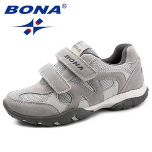 Bona Nuovo arrivo stile classico bambini scarpe casual Hook Loop ragazzi mocassini moda outdoor scarpe da ginnastica luce veloce spedizione gratuita Y190525