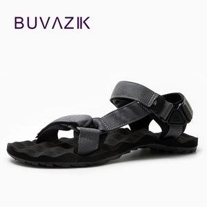 BUVAZIK yaz 2018 erkek EVA enjeksiyon ayakkabı ışık ve watherproof sandalet erkekler Aşınmaya dayanıklı kanvas rahat ayakkabılar CX200616