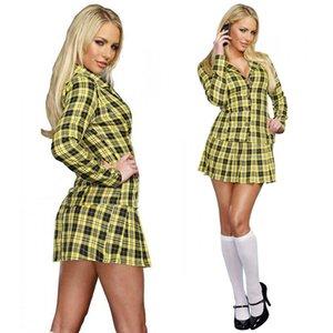 LINGERIE SEXY SCHOOL Naughty Girl TRAJE MINI SAIA Halloween do vestido extravagante roupa MS4179 S-L