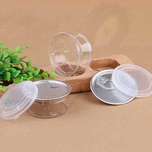 55ml 53 * 28mm PET-Plastikglas mit Metalldeckel Container Food Storage Box Essen Gläser Transparent Nahrung versiegelte Flasche Kanister ZZA2285