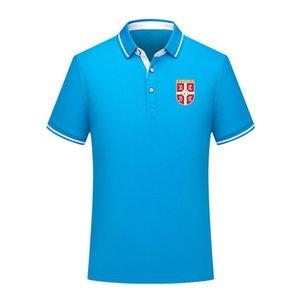 sırbistan Erkekler Polo Gömlek Yaz Erkek İş Casual Erkek spor Run Kısa Kollu Tişört eğitim Giyim Polos Erkek Polo Yaka Tops