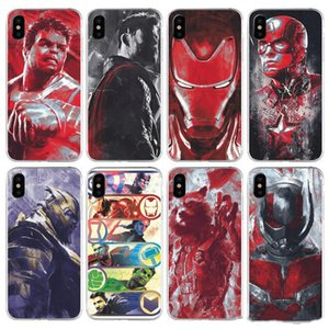 Super Hero Phone Case For iPhone 6 7 8 X TPU Phone Cover Creative Cell Phone Protector For iPhone Xr Xs Max