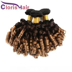 H Farbiges 1b 4 30 Ombre Haarbündel Nigeria Aunty Funmi Peruvian Virgin Haarverlängerungen 3 Tone Blonde Frühling Curly Tissage Ombre