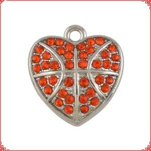 Этнический стиль в форме сердца кристалл горного хрусталя баскетбол аксессуары подвески подвески для ожерелье браслет серьги сделай сам ювелирные изделия решений