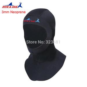 غطس شراع 3mm Neoprene Scuba Snorkeling Diving Hoods قبعة غطاء Bibbed طويل إلى كتف Diver بدلة الرطب Hoodies الرجال النساء